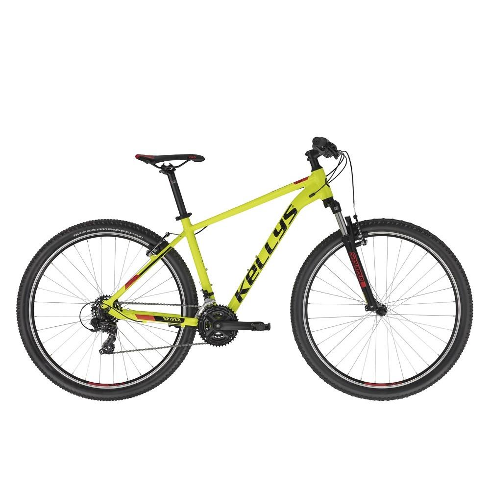 """Horské kolo KELLYS SPIDER 10 29"""" - model 2021 Neon Yellow - M (19'') - Záruka 10 let"""