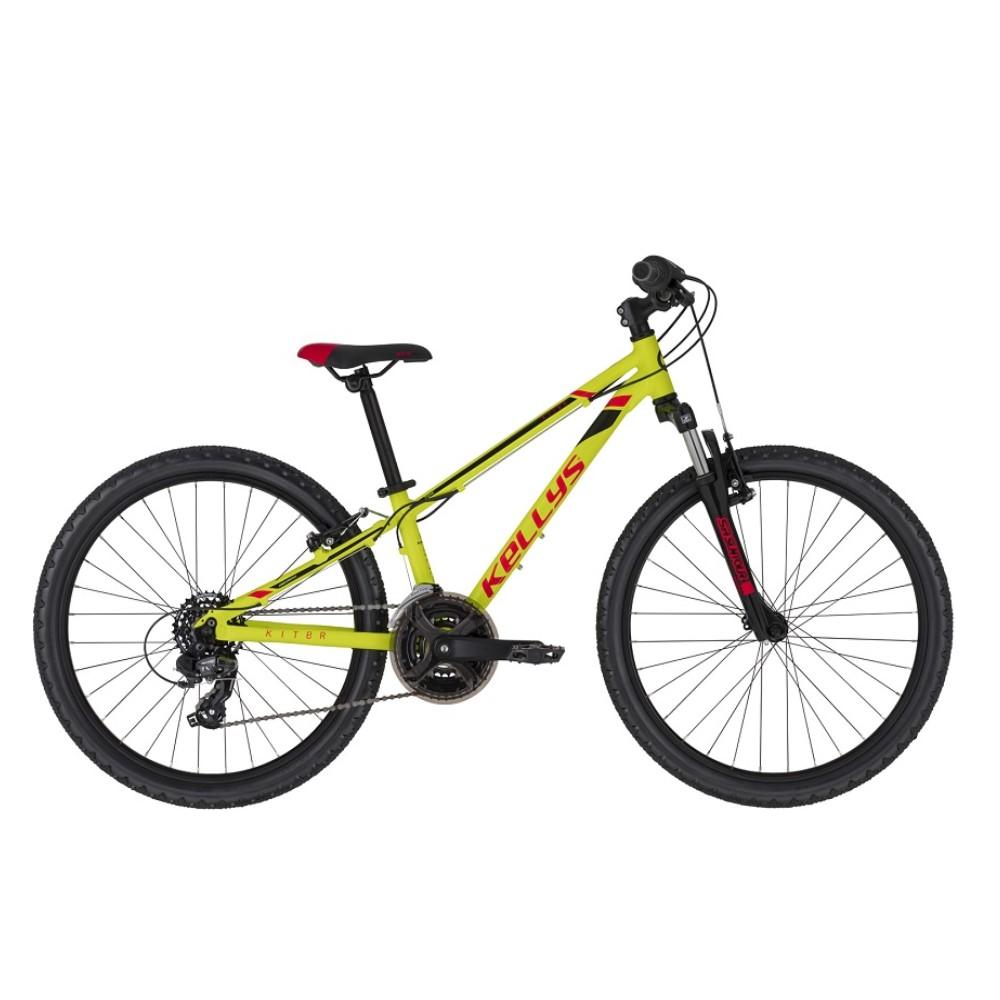"Juniorské kolo KELLYS KITER 50 24"" - model 2021 Neon Yellow - 11"" - Záruka 10 let"