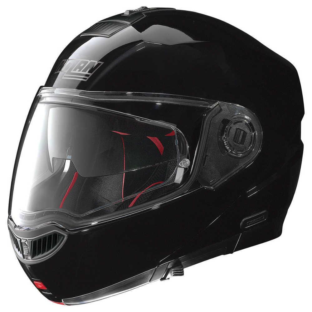 Moto helma Nolan N104 Absolute Classic N-Com Glossy Black - L (59-60)
