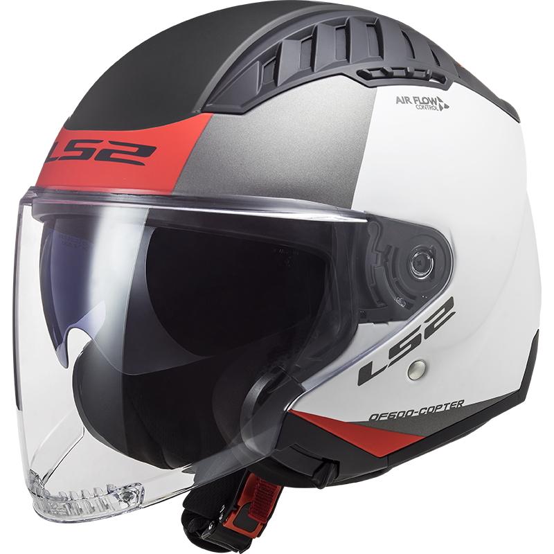 Moto přilba LS2 OF600 Copter Urbane  Matt White Red  XS (53-54)
