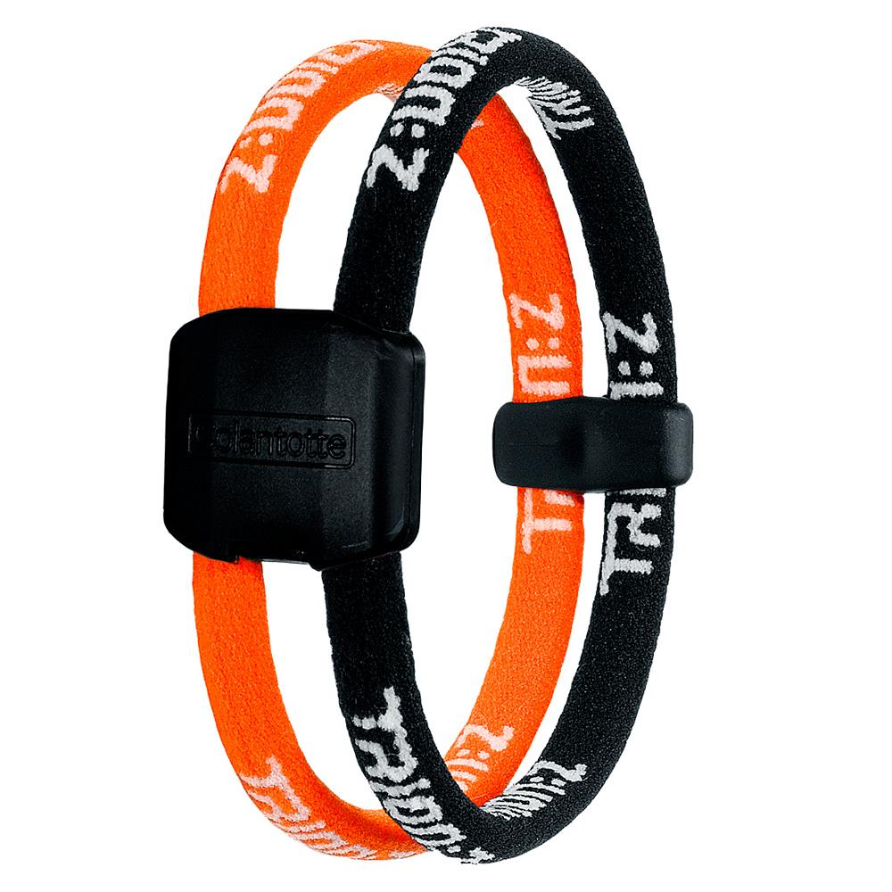 Náramek TRION:Z Dual černo-oranžová - S