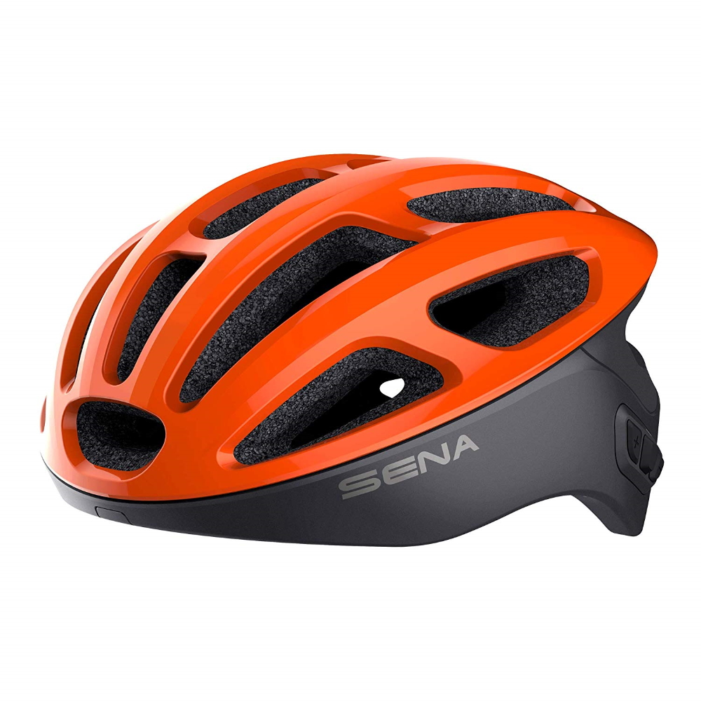 Cyklo přilba SENA R1 s integrovaným headsetem oranžová - M (55-59)