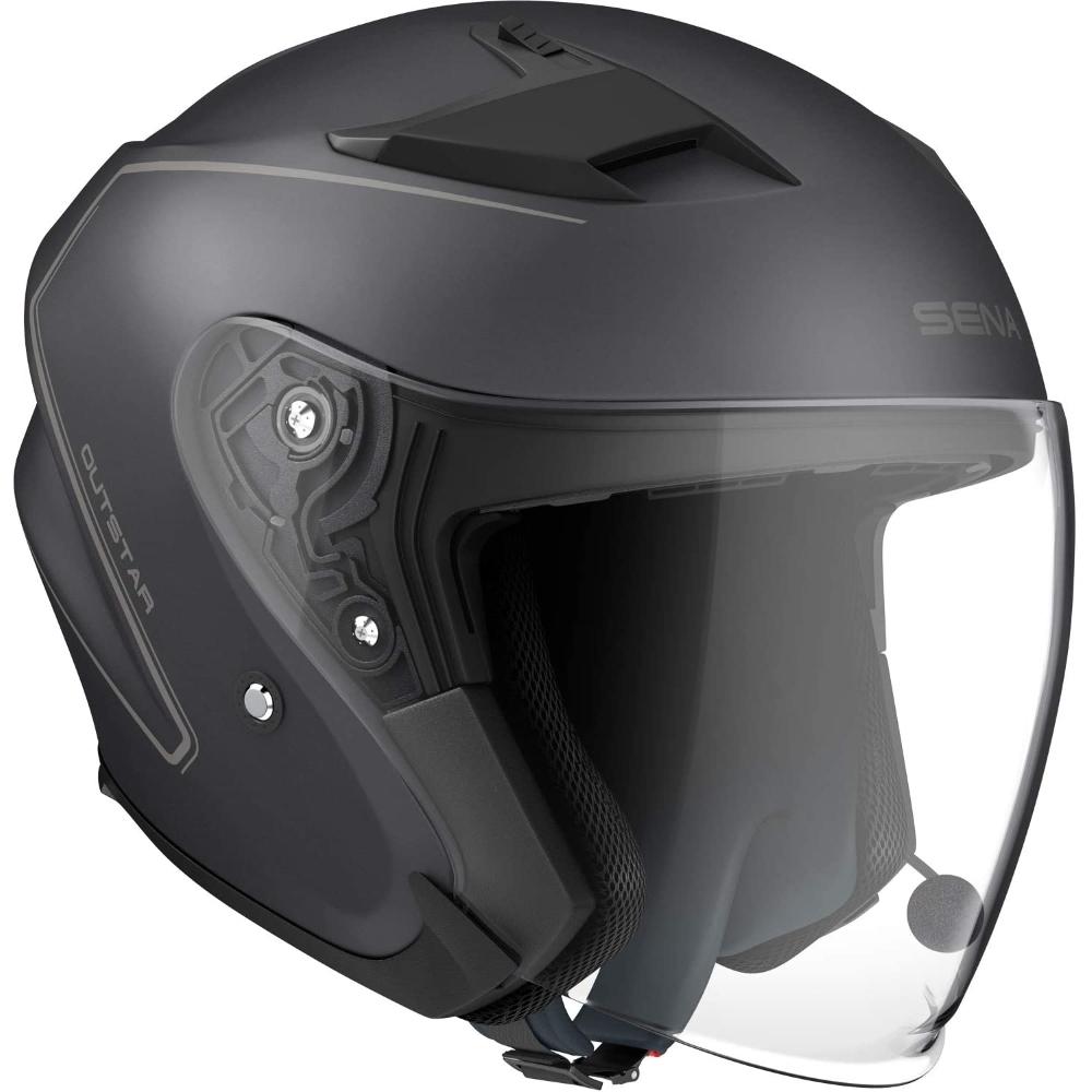 Moto přilba SENA Outstar s integrovaným headsetem matně černá - M (57-58)