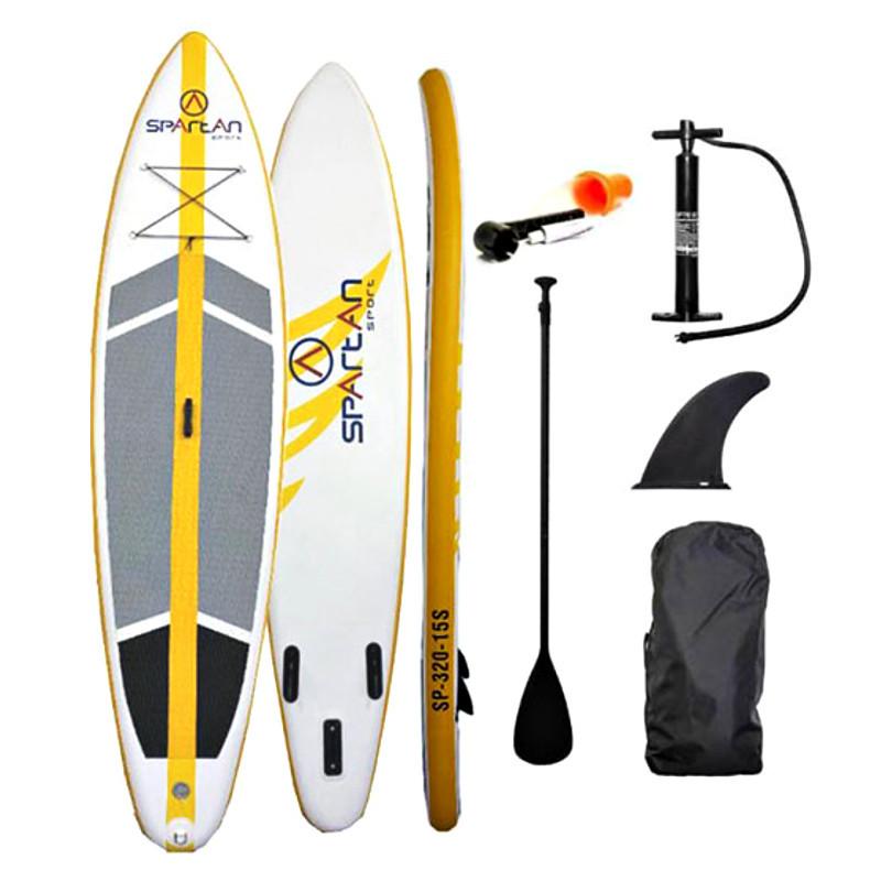 """Paddleboard s příslušenstvím Spartan SUP 10'6"""" Grey-Orange"""