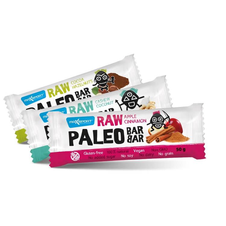 Raw tyčinka MAX SPORT Paleo Raw Barbar Jablko - skořice