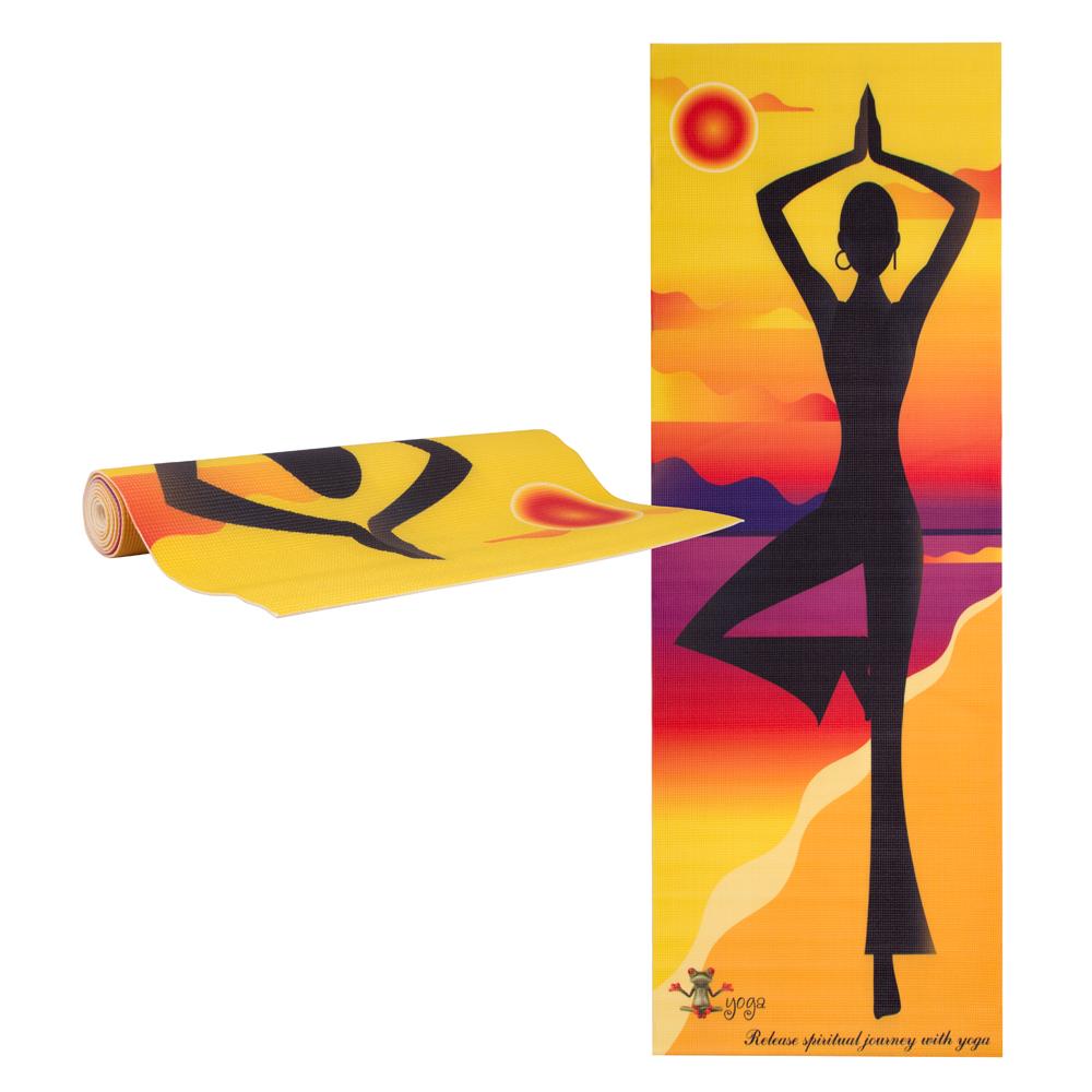 Jóga podložka inSPORTline Medita yellow pose