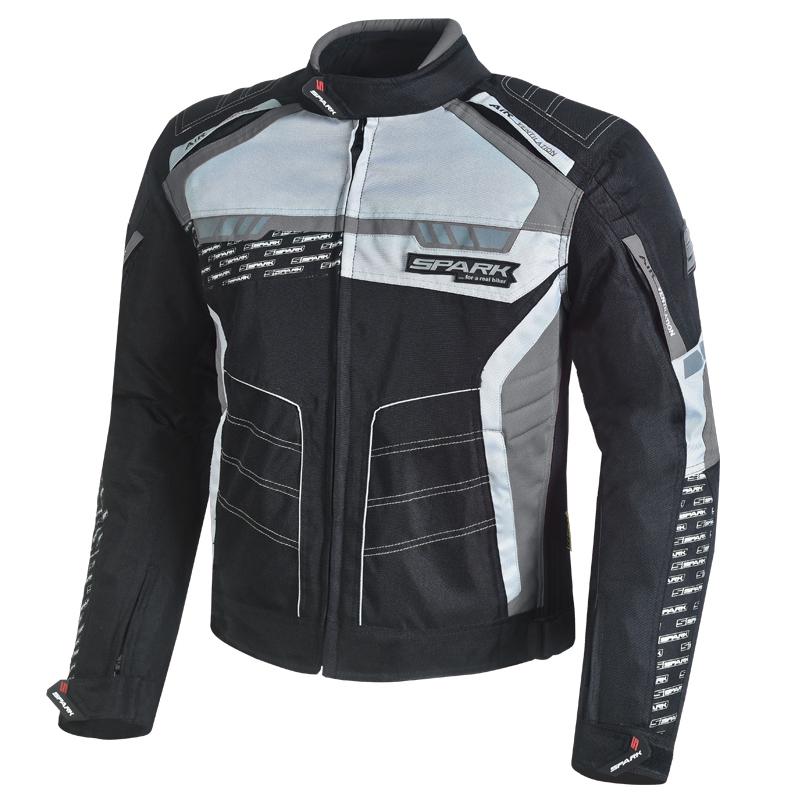 Pánská textilní moto bunda Spark Mizzen  černo-šedá  S
