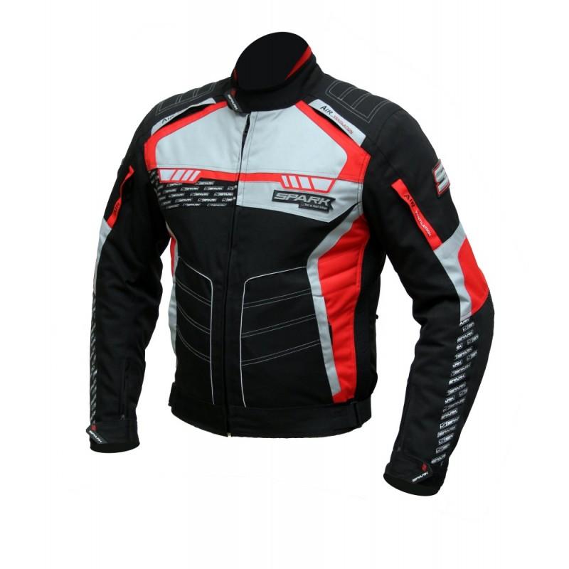 Pánská textilní moto bunda Spark Mizzen červeno-černá - S