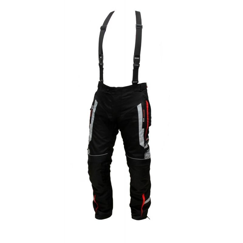 Pánské textilní moto kalhoty Spark Mizzen červeno-černá - S