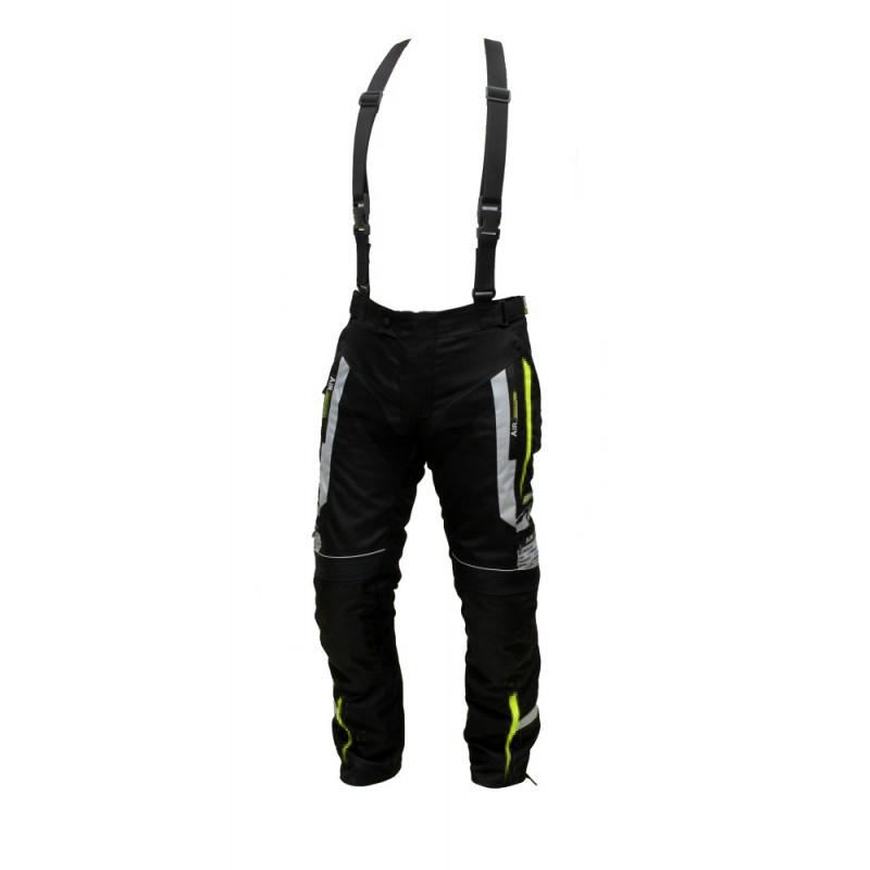 Pánské textilní moto kalhoty Spark Mizzen černá-fluo - L
