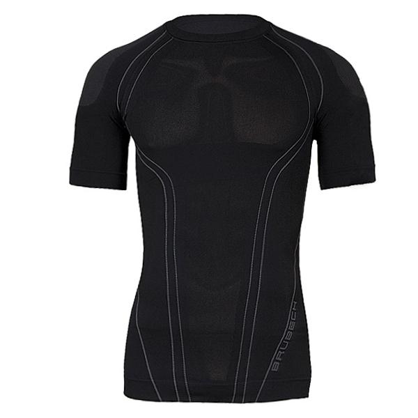 Pánské termo tričko Brubeck FIT s krátkým rukávem černá - XXL