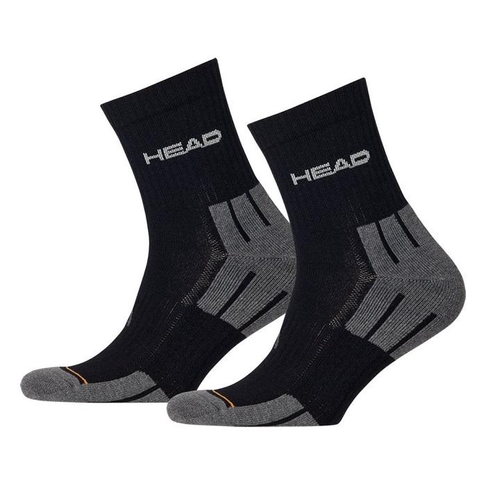 Ponožky Head Performance Short Crew UNISEX - 3 páry černo-šedá - 35-38