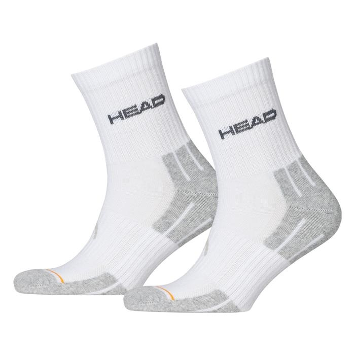 Ponožky Head Performance Short Crew UNISEX - 3 páry bílo-šedá - 35-38