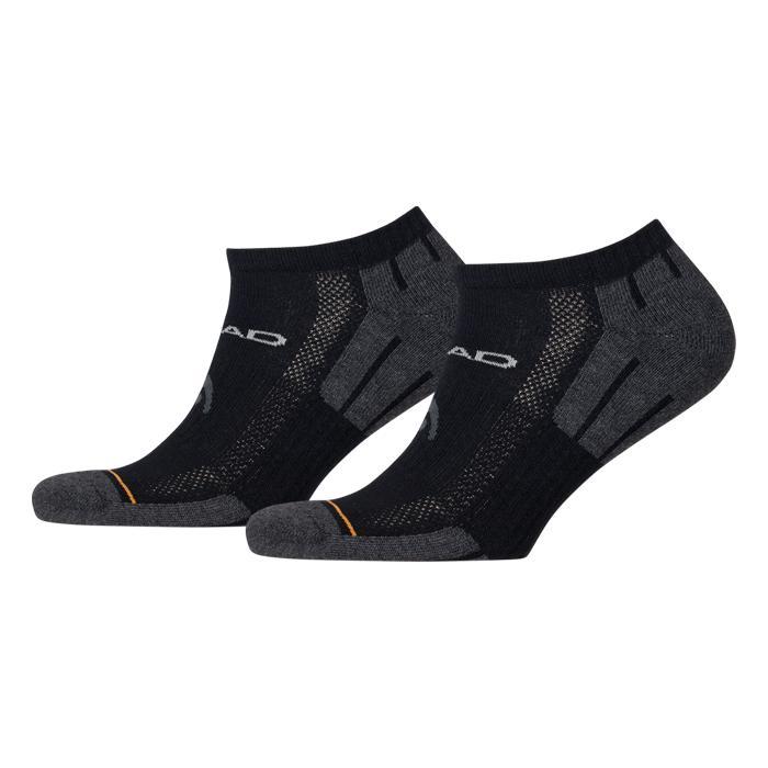 Kotníkové ponožky Head Performance Sneaker UNISEX - 2 páry černo - šedá - 35-38