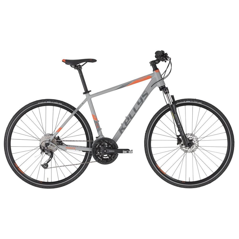 """Pánské crossové kolo KELLYS PHANATIC 30 28"""" - model 2020 Grey - M (19'') - Záruka 10 let"""