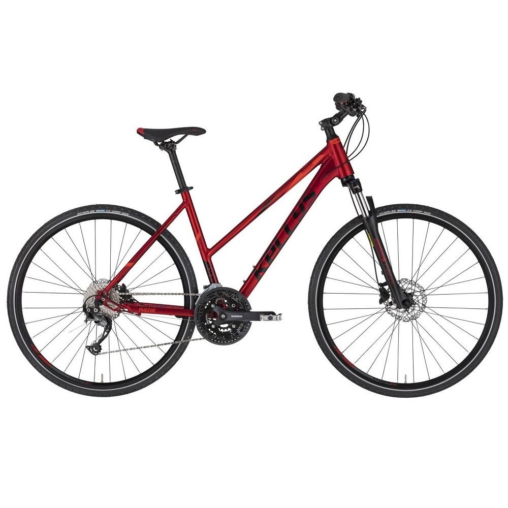 """Dámské crossové kolo KELLYS PHEEBE 30 28"""" - model 2021 Dark Red - S (17'') - Záruka 10 let"""