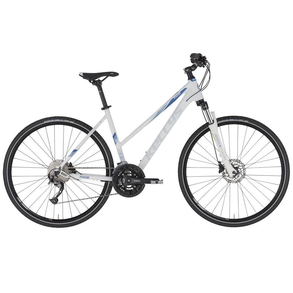"""Dámské crossové kolo KELLYS PHEEBE 30 28"""" - model 2021 White - S (17'') - Záruka 10 let"""