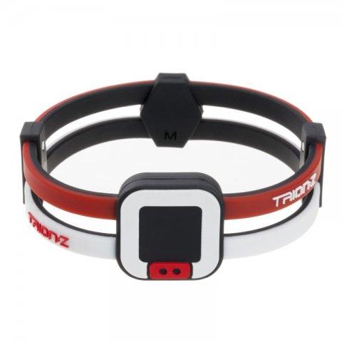 Náramek TRION:Z Duo-Loop bílo-červená - M