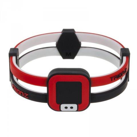 Náramek TRION:Z Duo-Loop černo-červená - M