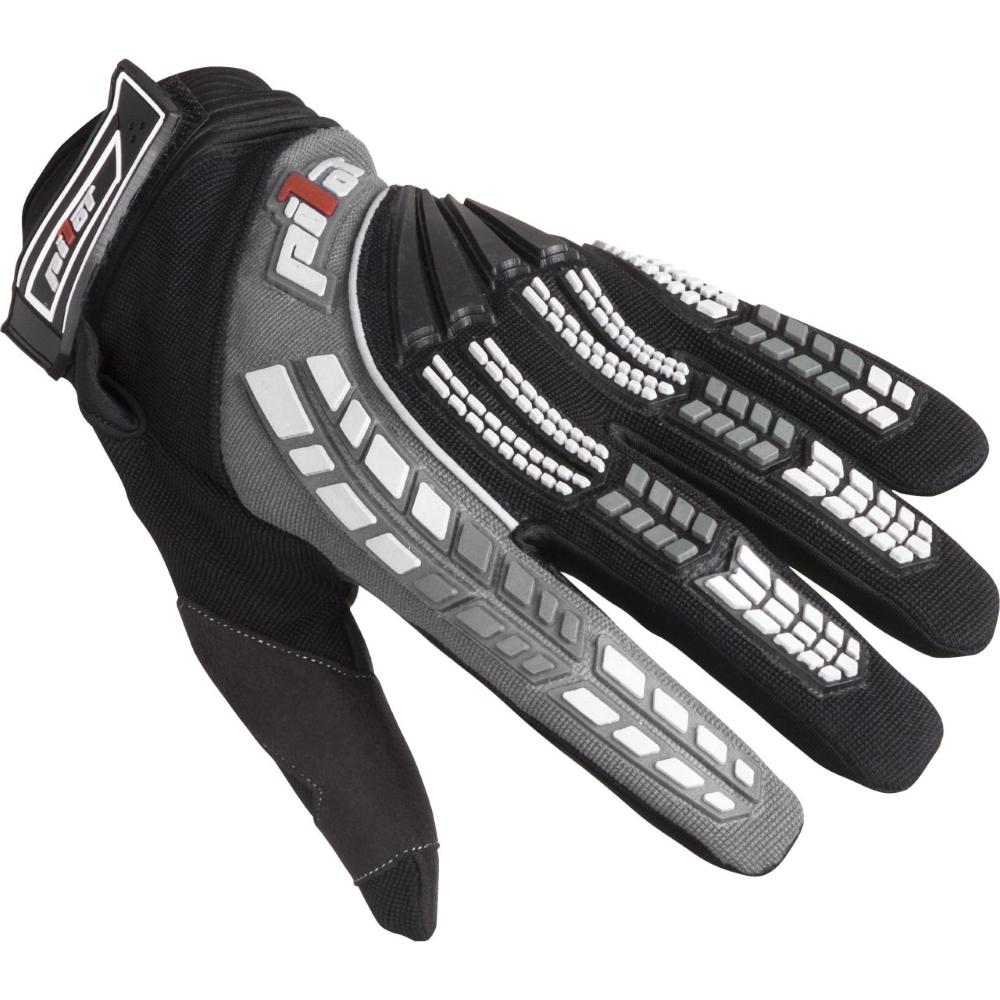 Dětské motokrosové rukavice Pilot černo-šedá - 6