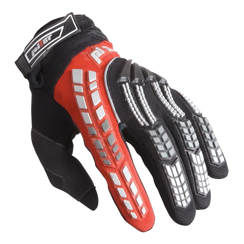 Dětské motokrosové rukavice Pilot černo-červená - 3