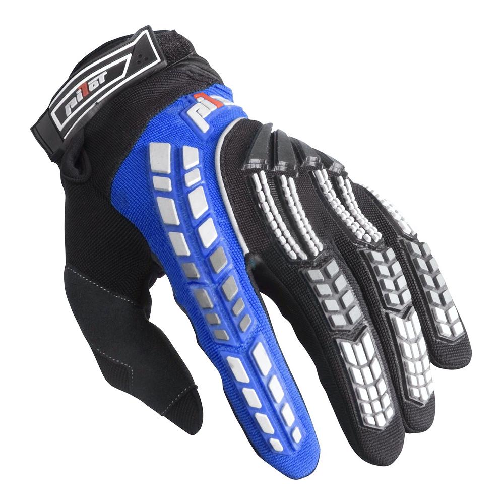 Dětské motokrosové rukavice Pilot černo-modrá - 3