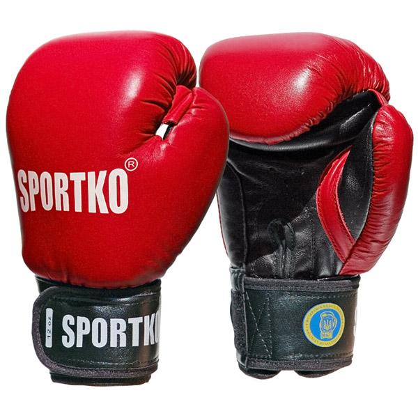 Boxerské rukavice SportKO PK1 červená - 10oz