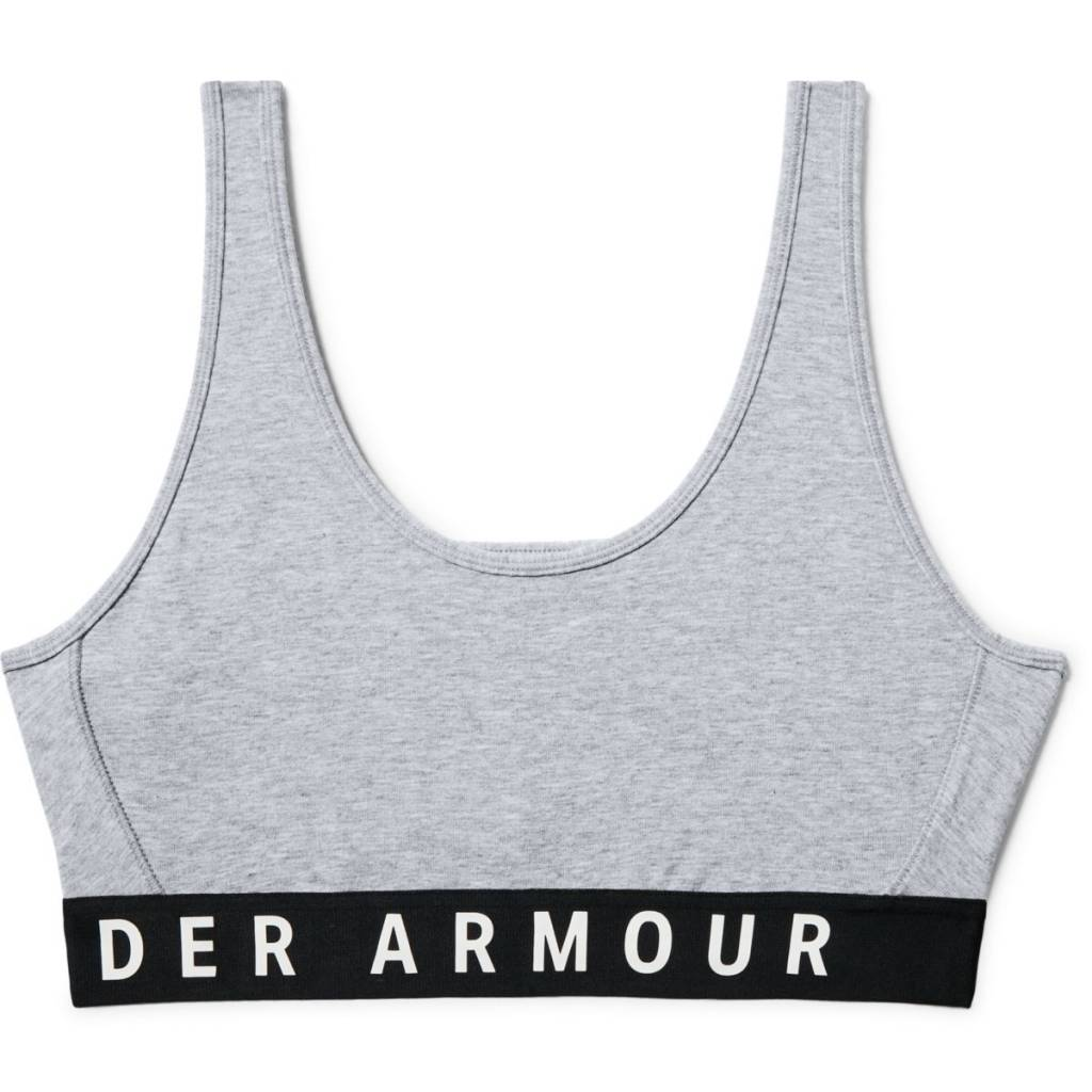 Under Armour Favorite Cotton Everyday Htr Steel Full HeatherBlackWhite - XS