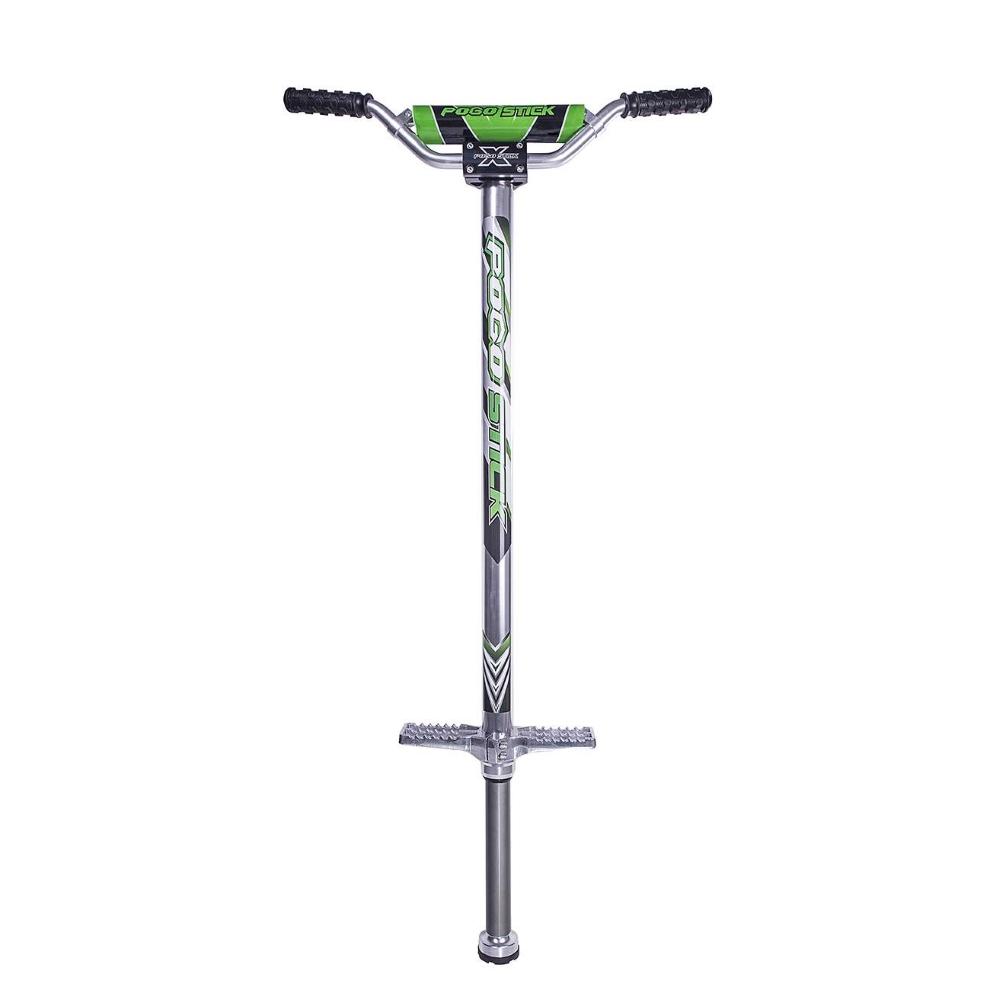 Skákací tyč Pogostick zelená