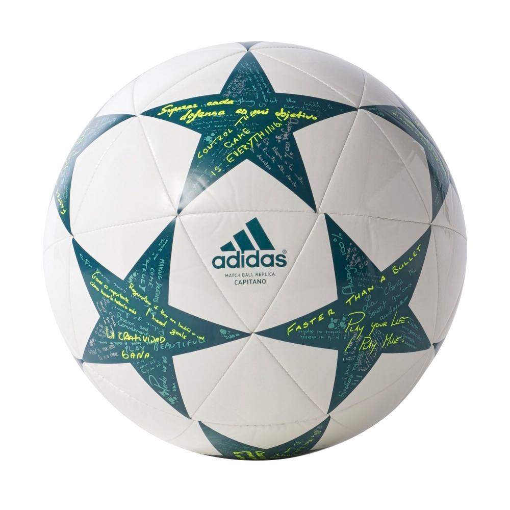 Fotbalový míč Adidas Capitano Finale 16 AP0375 bílo-zelená vel. 5