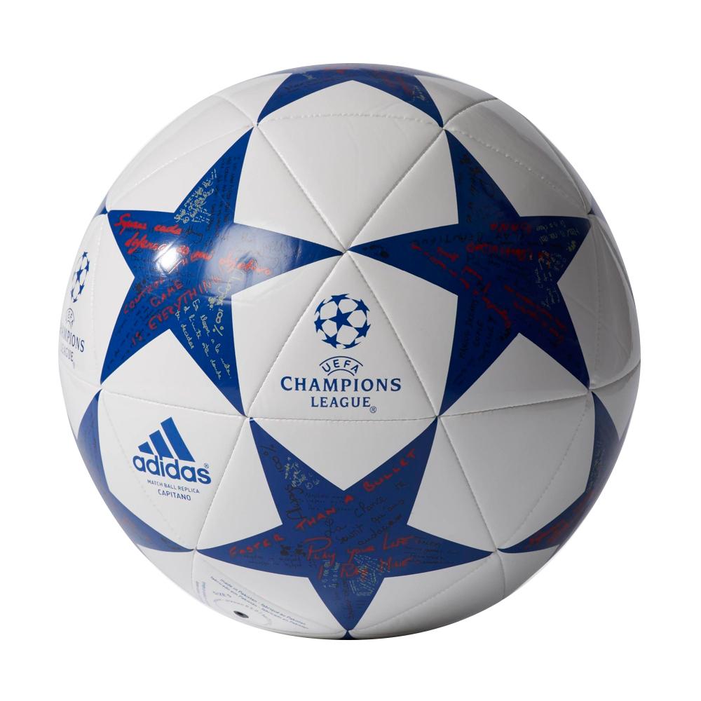 Fotbalový míč Adidas Capitano Finale 16 Olympique Lyon AP0402 bílo-modrá