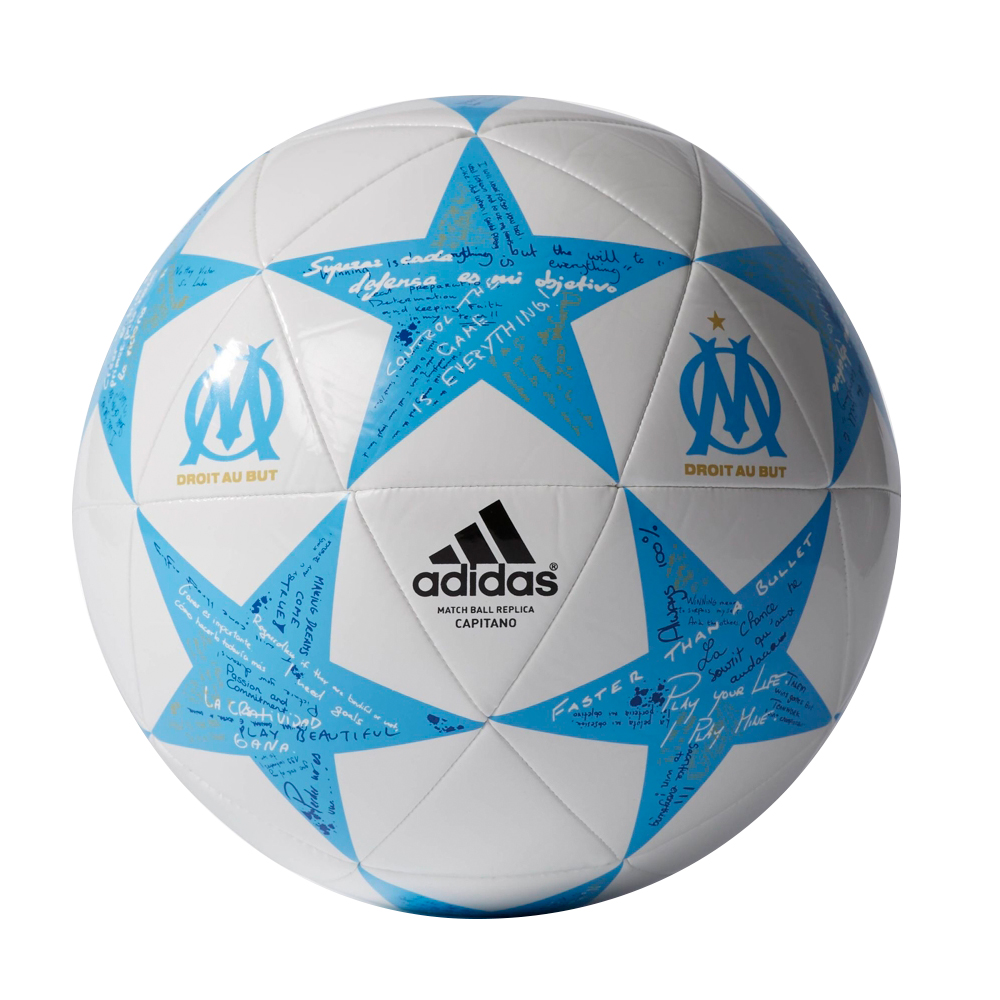 Fotbalový míč Adidas Capitano Finale 16 Olympique Marseille AP0403 bílo-modrá