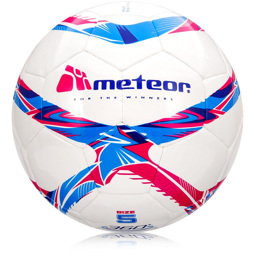 Fotbalový míč Meteor 360 Shiny MS bílý vel. 5