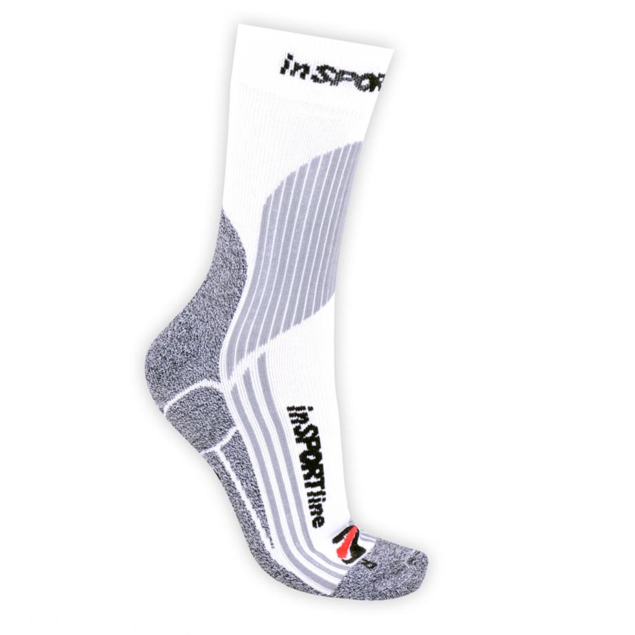 Multifunkční ponožky inSPORTline - COOLMAX & ionty stříbra bílá - S (30-33)