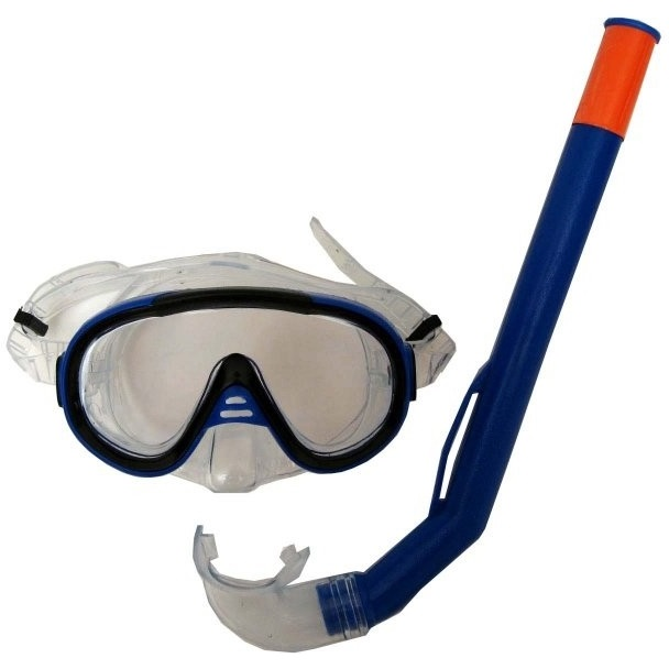 Sada brýle Francis Cristal Junior + šnorchl Junior modrá