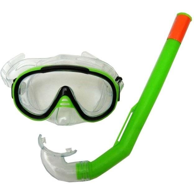 Sada brýle Francis Cristal Junior + šnorchl Junior zelená