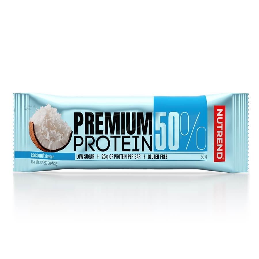 Proteinová tyčinka Nutrend Premium Protein 50% Bar 50g kokos