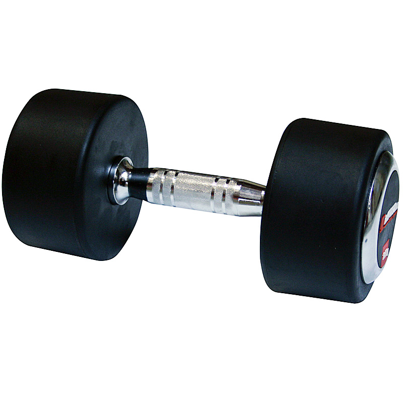 Pogumovaná jednoruční činka inSPORTline 35 kg