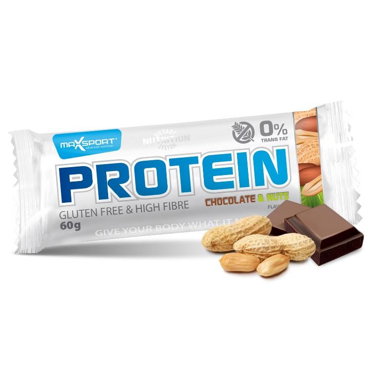 Proteinová tyčinka MAX SPORT GF čokoláda-oříšky