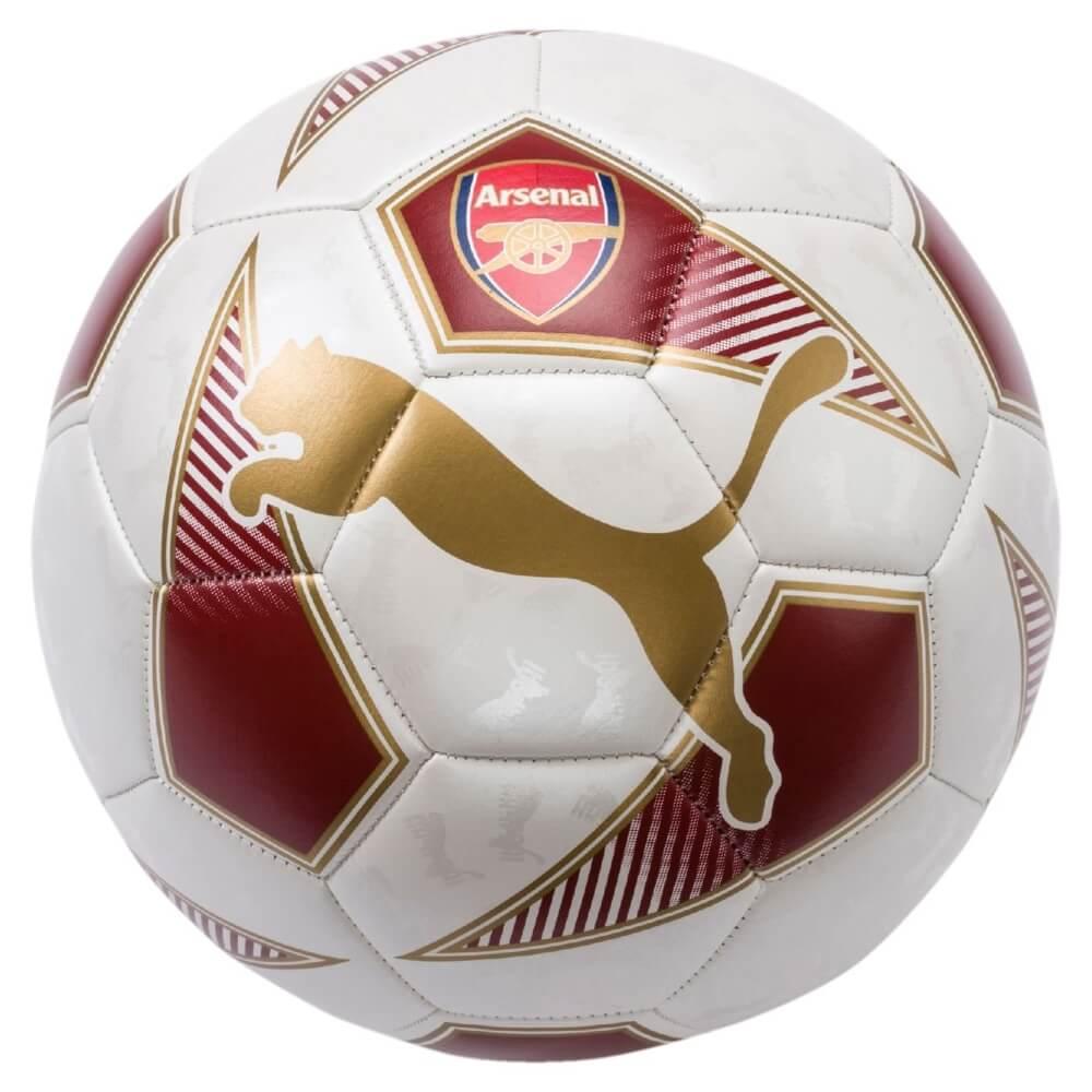 Fotbalový míč Puma Arsenal 08289701 chilli červeno-bílý