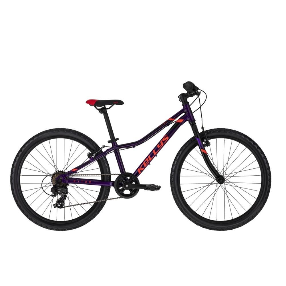 "Juniorské kolo KELLYS KITER 30 24"" - model 2021 Purple - 11"" - Záruka 10 let"