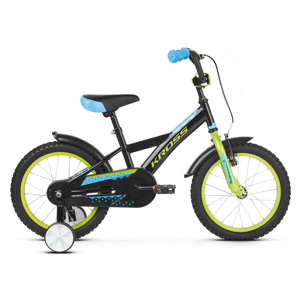 Kross Racer 30 16  model 2019 Black  Lime  Blue Glossy