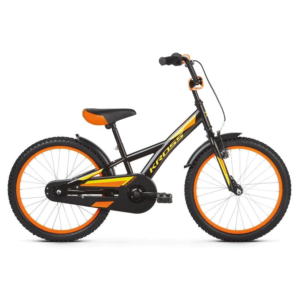 Kross Racer 50 20  model 2019 Black  Yellow  Orange Glossy