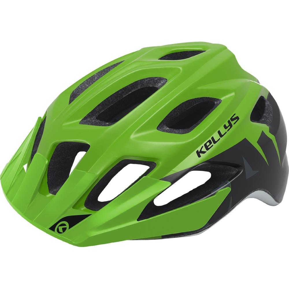 Cyklo přilba Kellys Rave zelená - S M (55-61) d98a4c8f24b