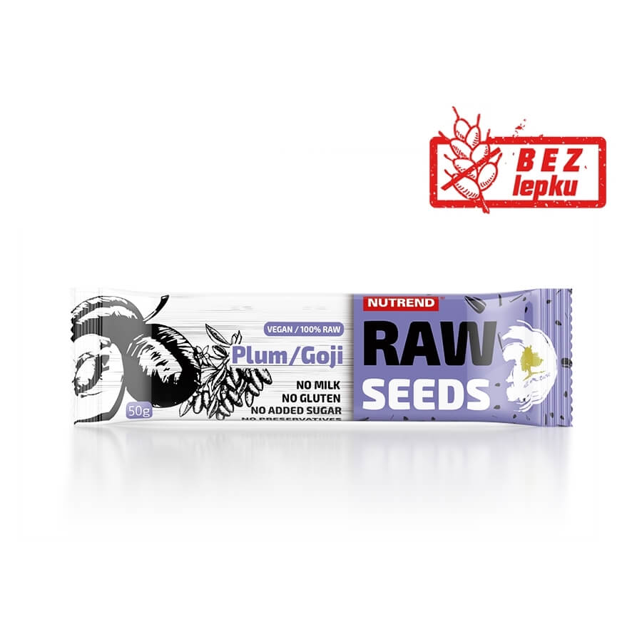 Tyčinka Nutrend Raw Seeds Bar 50 g fík+černý jeřáb
