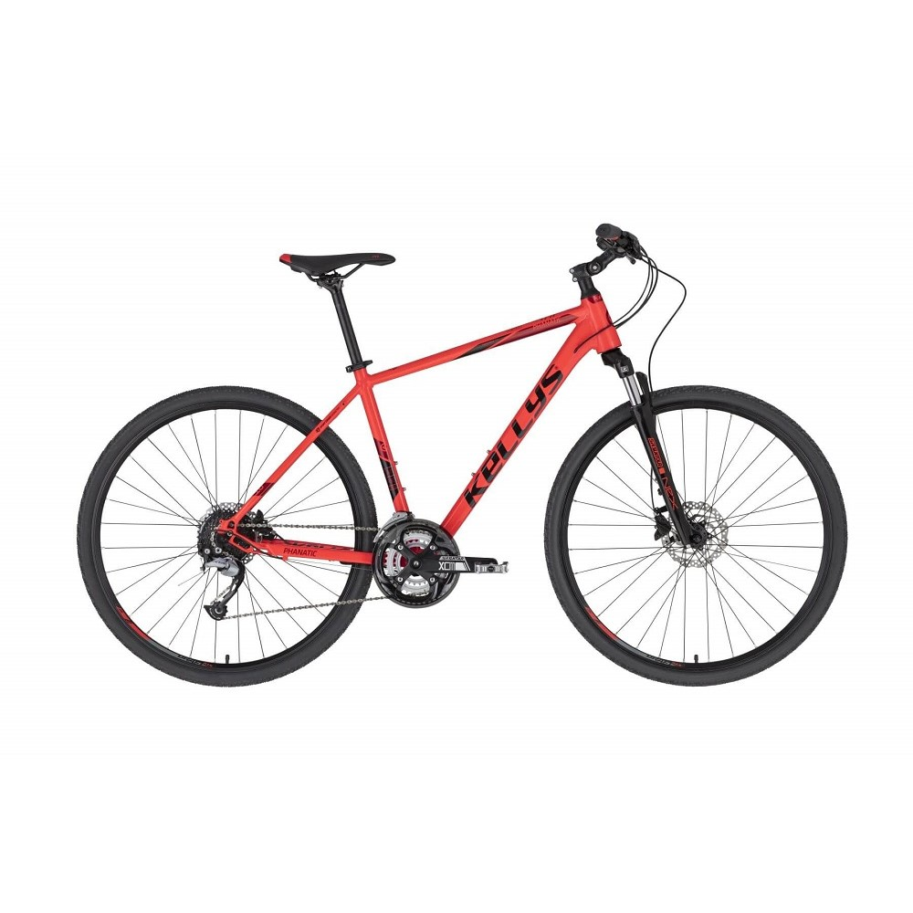 "Pánské crossové kolo KELLYS PHANATIC 10 28"" - model 2021 Red - S (17'') - Záruka 10 let"