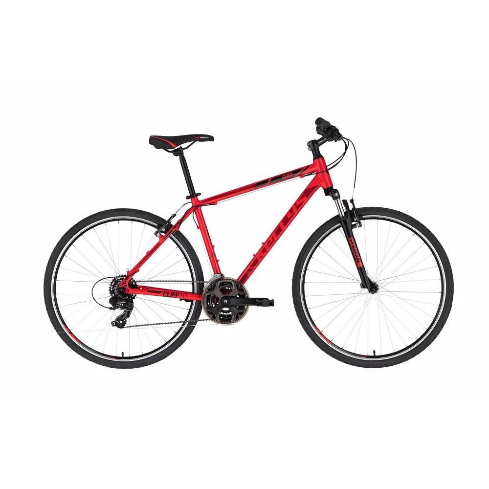 """Pánské crossové kolo KELLYS CLIFF 10 28"""" - model 2021 Red - S (17'') - Záruka 10 let"""
