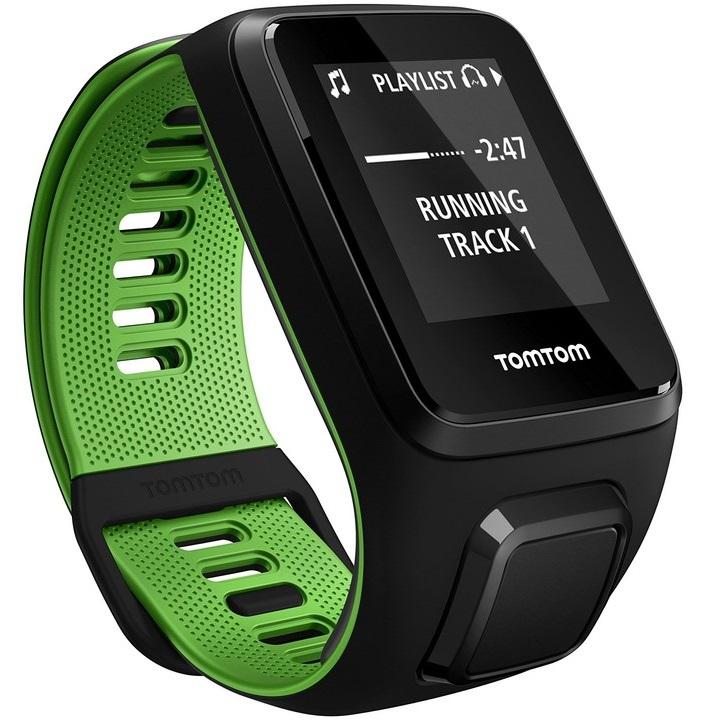 Sporttester TomTom Runner 3 Cardio + Music černo-zelená - L (143-206 mm)