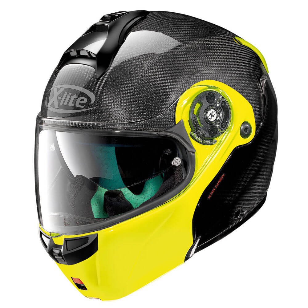 Moto helma X-lite X-1004 Ultra Carbon Dyad Fluo Yellow XS (53-54)