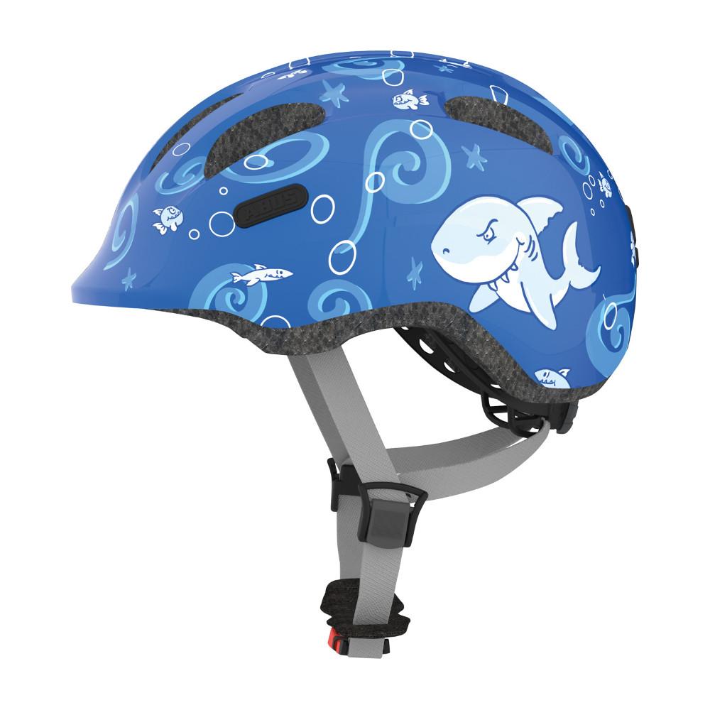 Dětská cyklo přilba Abus Smiley 2.0 Blue Sharky - S (45-50)